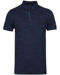 BOSS Orange - Principle 1 Navy Marl Polo Shirt - Lyst