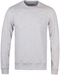 Original Penguin   Mirage Grey Heather Crew Neck Sweatshirt   Lyst