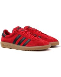 adidas Originals - Bermuda Scarlet Red & Black Trainers - Lyst