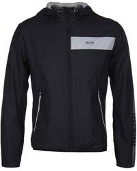 BOSS Green - Jeltech Black Water-repellent Jacket - Lyst