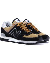 New Balance M576 Black & Yellow Made In England Sneakers