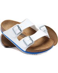 Birkenstock - Arizona White Oiled Leather Sandals - Lyst
