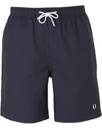 Fred Perry - Charcoal Textured Swim Short - Lyst