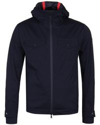 Paul & Shark - Blocktech Dark Blue Soft Shell Jacket - Lyst