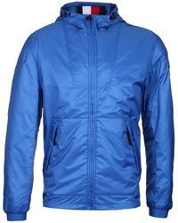 Tommy Hilfiger - Padded Hooded Blue Down Jacket - Lyst