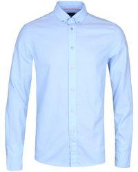 Calvin Klein - Galdo Fitted Blue Oxford Shirt - Lyst