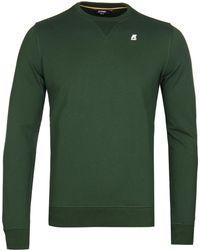 K-Way - Slim Fit Augustine Dark Green French Terry Sweatshirt - Lyst