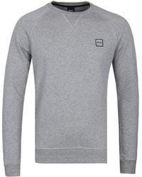 BOSS Orange - Boss Wyan Grey Marl Sweatshirt - Lyst