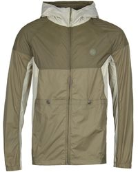 Pretty Green - Adelphi Khaki Zipthrough Hooded Contrast Jacket - Lyst