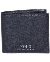 Polo Ralph Lauren - Pebble Black Leather Wallet - Lyst