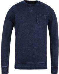 Edwin - Dark Indigo Garment Washed Raglan Pocket Sweater - Lyst