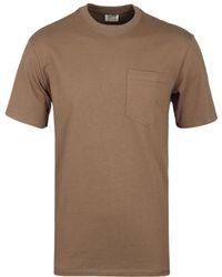 Filson - Tan Cotton Crew Neck T-shirt - Lyst