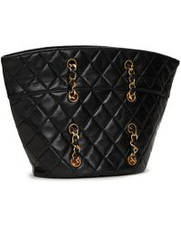 77bccf5513f9a3 Chanel Vintage Black Lambskin Quilted Maxi Classic Flap Bag in Black ...