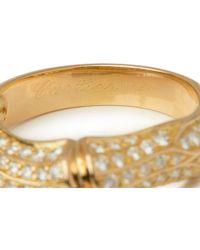 dd253f26f Cartier - 18k Yellow Gold Diamond Bamboo Ring - Lyst