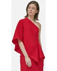 Yigal Azrouël - Draped One Shoulder Top - Lyst
