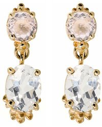 Ruta Reifen - Morganite Topaz Drop Earrings - Lyst