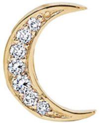 Andrea Fohrman - Small Diamond Moon Single Stud Earring - Lyst