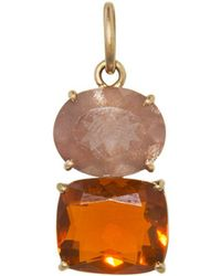Irene Neuwirth - One-of-a-kind Sunstone Oval And Fire Opal Charm - Lyst
