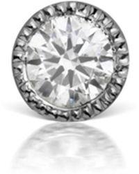 Maria Tash - 2.5mm Scalloped Diamond Single Thread Through Earring - Lyst