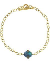 Cathy Waterman - Oval Boulder Opal Chain Bracelet - Lyst