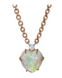 Irene Neuwirth - One-of-a-kind 9.5 Carat Opal Heart Necklace - Lyst