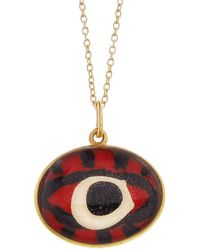Ileana Makri - Hand Painted Red Evil Eye Necklace - Lyst