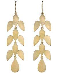 Irene Neuwirth - Marquis Leaf Motif Earrings - Lyst