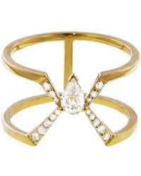 Raphaele Canot - Diamond Deco Ring - Lyst