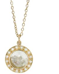 Moritz Glik - Circle Dome With Diamonds Necklace - Lyst