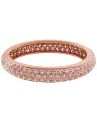 Sethi Couture - Wide Pavé Pink Diamond Ring - Lyst