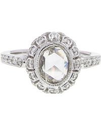 Sethi Couture - Handmade Oval Rose Cut Diamond Ring - Lyst