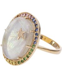 Andrea Fohrman - Large Mother Of Pearl And Sapphire Galaxy Ring - Lyst