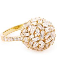 Suzanne Kalan - Baguette And Round Diamond Sphere Ring - Lyst
