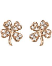 Jennifer Meyer - Mini Diamond Clover Stud Earrings - Lyst