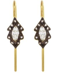 Cathy Waterman - Diamond Marquise Leaf Earrings - Lyst