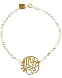 Ginette NY - Mini Lace Monogram Bracelet - Lyst