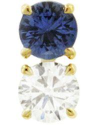 Raphaele Canot - Confetti Blue Sapphire And Diamond Stud Earring - Lyst