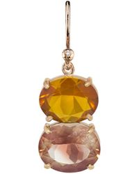 Irene Neuwirth - One-of-a-kind Fire Opal And Sunstone Single Earring - Lyst
