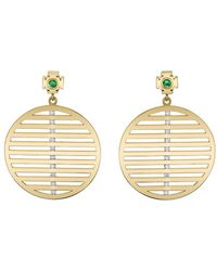 Ark - Emerald And Diamond Nine Strings Earrings - Lyst