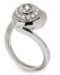 Jordan Askill - Pavé Diamond Heart Locket Ring - Lyst
