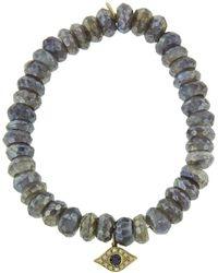 Sydney Evan - Small Evil Eye On Diamond Labradorite Beaded Bracelet - Lyst