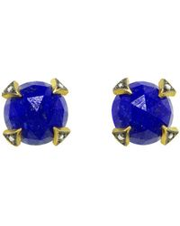 Cathy Waterman - Rose Cut Lapis Thorn Stud Earrings - Lyst