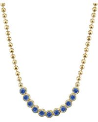 Ark - Blue Sapphire Tennis Necklace - Lyst