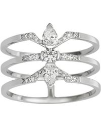 Raphaele Canot - Three Diamond Deco Ring - Lyst
