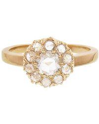 Sethi Couture - Floral Round White Diamond Ring - Lyst