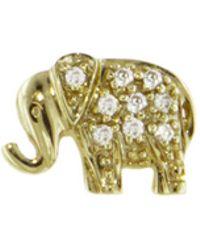 Sydney Evan - Diamond Elephant Stud Earring - Lyst