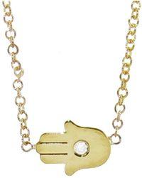 Jennifer Meyer - Mini Hamsa Diamond Necklace - Lyst