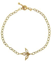 Cathy Waterman - Three Leaf Diamond Chain Bracelet - Lyst