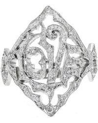 Cathy Waterman - Love Ring With Diamonds - Lyst