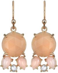 Irene Neuwirth - Peach Moonstone, Pink Opal And Diamond Drop Earrings - Lyst